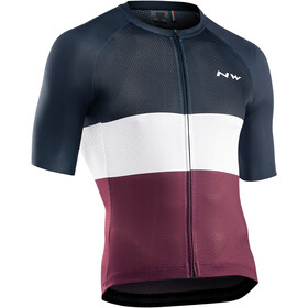 Northwave Blade Air Short Sleeve Jersey Men, black/white/plum